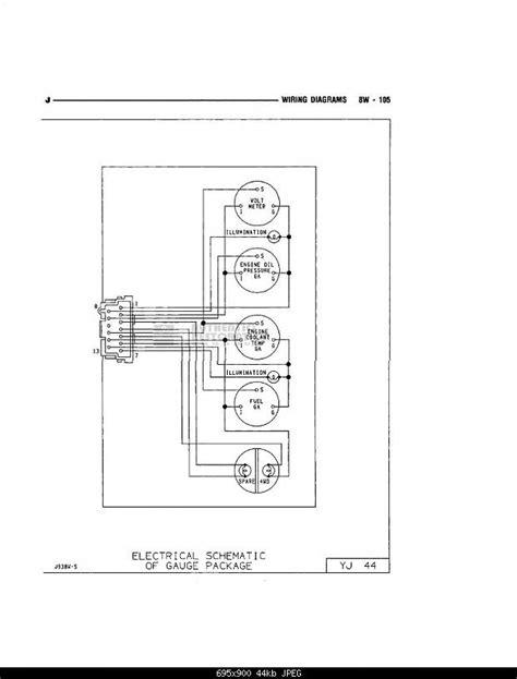 Need Wire Diagram For Gauge Cluster Jeepforum