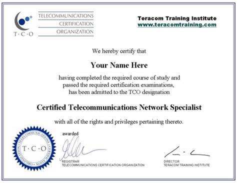 telecommunications training certification