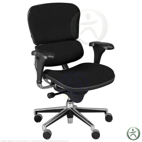 shop raynor ergohuman chairs black fabric blk10erglo