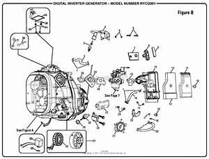 Homelite Ryci2001 Digital Inverter Generator Parts Diagram
