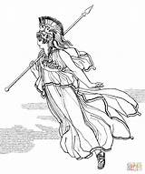 Athena Coloring Spear Greek Pages Printable Drawing Goddess God Zeus Indian Hera Getdrawings Clipart Dot Popular sketch template