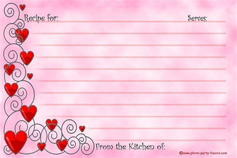 s day recipe card template free printable recipe cards 4 x 6 inches feature a