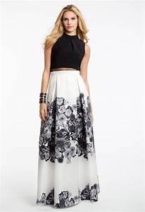mock neck floral print popover dress camillelavie prom With mock neck wedding dress