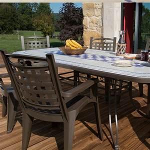 Table Jardin Design : salon de jardin de repas verona bora design grosfillex ~ Melissatoandfro.com Idées de Décoration