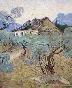 """White Cottage Among Olive Trees,"" 1889, Vincent Van Gogh ..."