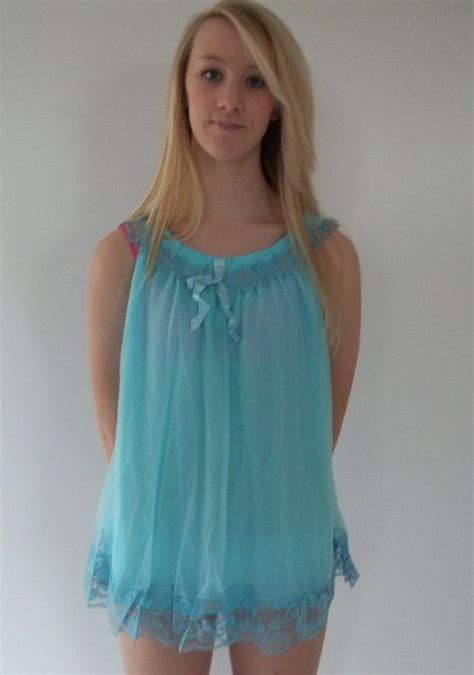 babydoll lingerie blue  lace  babydoll short