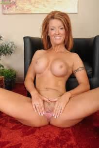 Redhead MILF Devon Sinner Tease And Strip Naked MILF Fox