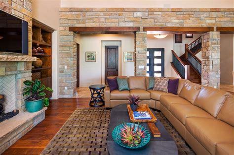 waterfront home transitional living room austin