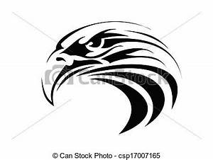 Illustration de aigle, tatouage très, grand, Taille, tribal, aigle, csp17007165