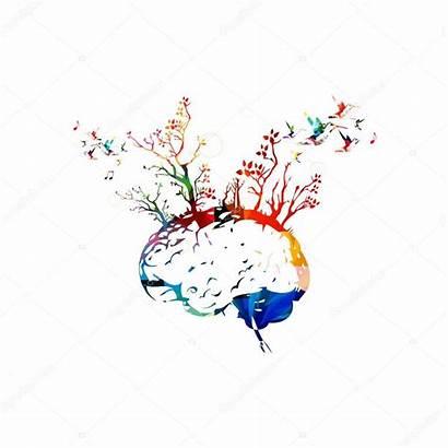 Brain Colorful Cervello Colorato Human Services Alberi