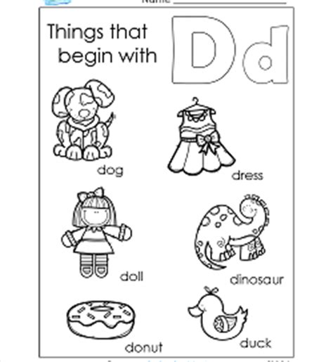 color that starts with letter d things that begin with a z a wellspring of worksheets 49148