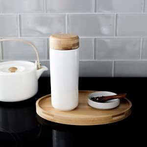 Love the simple blue on white. Amazon.com | Soma Insulated Ceramic Mug with Bamboo Lid ...