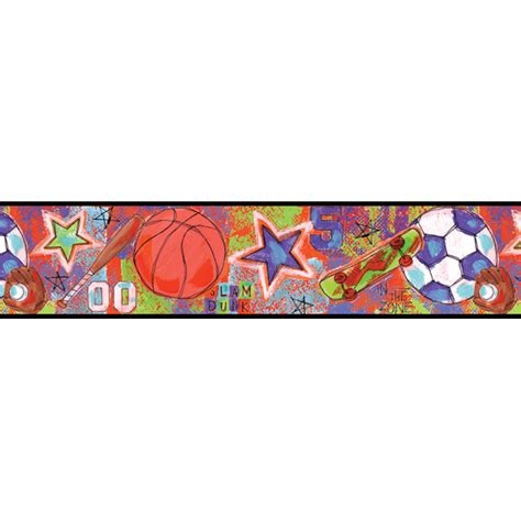 sports themed wallpaper borders wallpapersafari