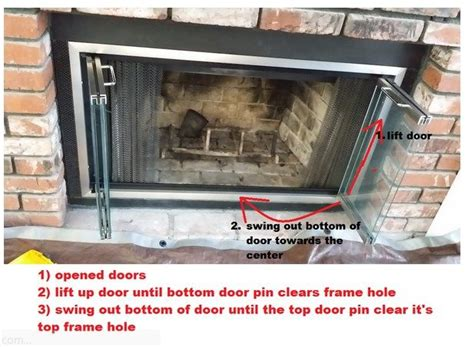 remove fireplace doors  frame fireplace