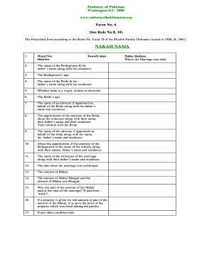 nikah nama bangladesh fill  printable fillable
