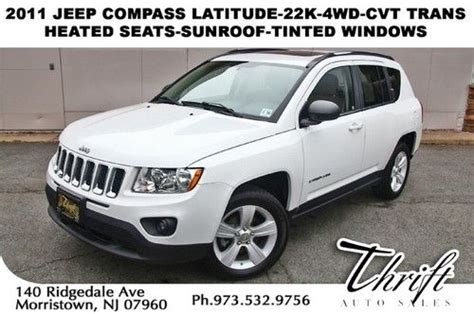 jeep compass limited sunroof purchase used 11 jeep compass latitude 22k 4wd cvt trans