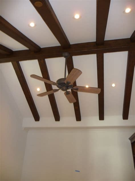 vaulted ceiling 45 degree recessed lights and fan yelp