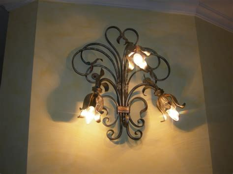 wall mounted lighting fixtures in wrought iron pag 2