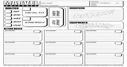 Rpg Marvel Character Sheet Universe Pdf Document