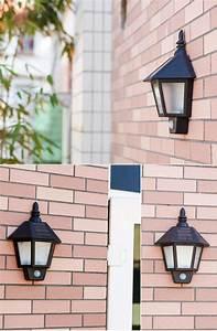 Vintage Sconce Led Solar Lights Body Sensor Wall Lamp