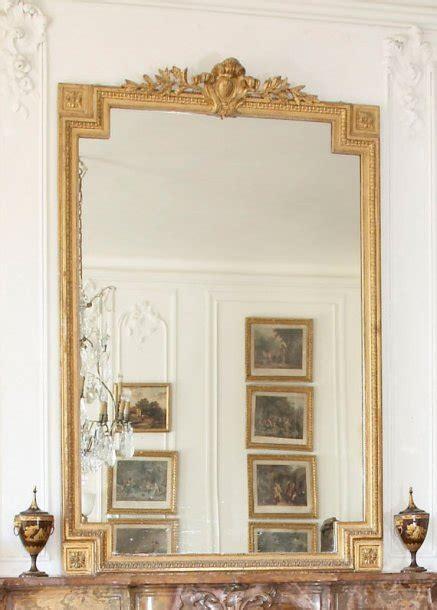 miroir de cheminée miroir de chemin 233 e de style louis xvi en bois et stuc