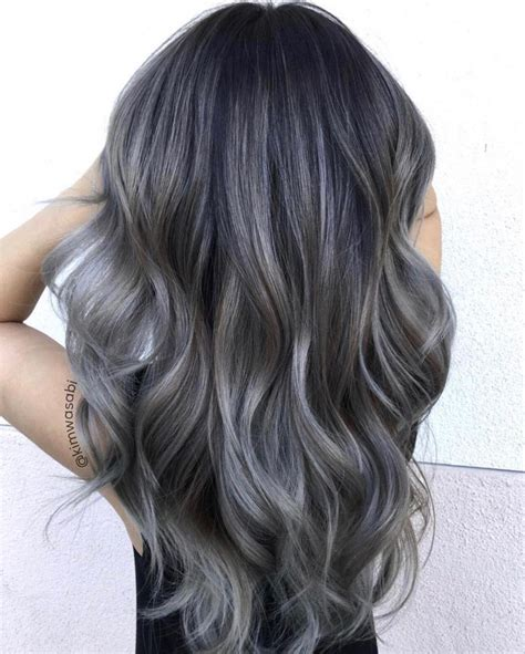 Ash Grey Balayage Balayage Ombre Colorful In 2019