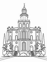 Lds Temple Coloring Utah George Drawing Latter Saints Printable Church Getdrawings Jesus Christ Getcolorings sketch template