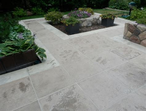 travertine tile outdoor handcrafted travertine stone patio modern patio edmonton by integrastone