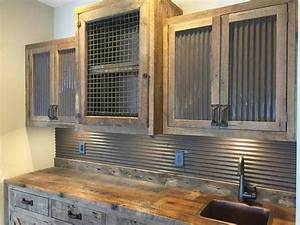 25 best ideas about barn tin on pinterest barnwood With kitchen cabinets lowes with metal cow wall art