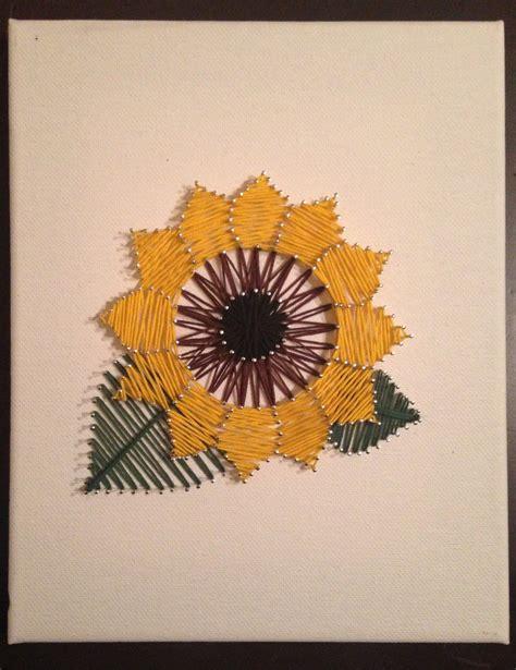 sunflower string art  stringyourheartout printable
