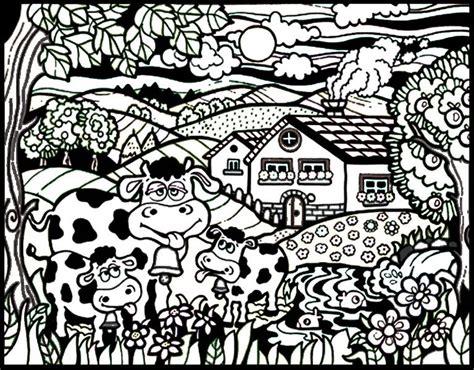 disegno da colorare  pennarelli inclusi mucche naif