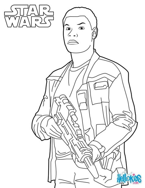 coloring pages star wars coloring pages finn star wars