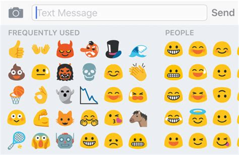 how to get iphone emojis for android emoji how to get android n emojis on your ios device