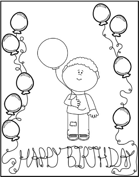Kleurplaat Happy by Happy Birthday Feest Kleurplaten Wensjes