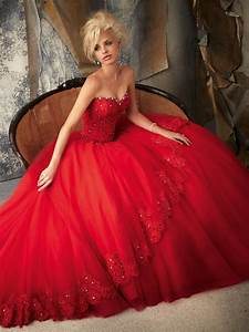 Elegant collection of red princess wedding dresses for for Wedding dress red