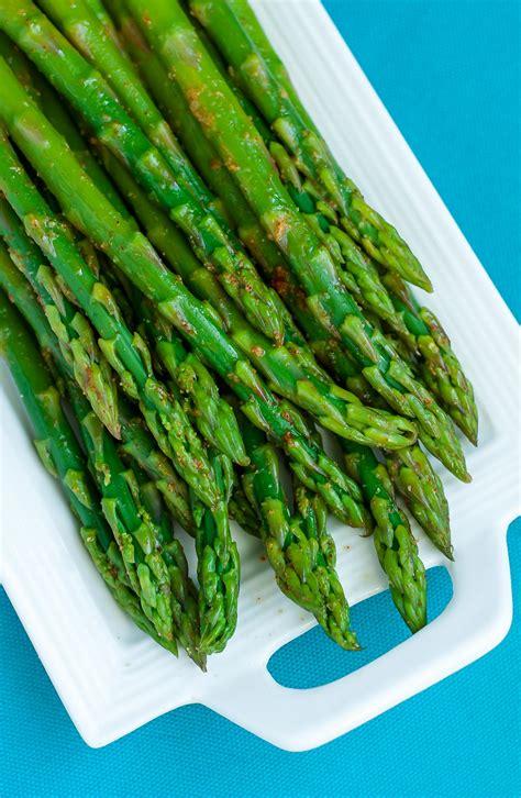 easy blanched asparagus  cayenne lemon  garlic