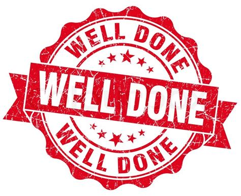 Well Done Images Well Done Grunge St Stock Photo Colourbox