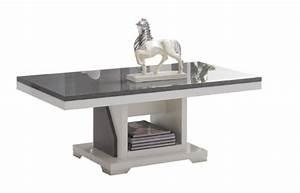 Table Basse Blanc Gris : table basse ascot gris blanc ~ Teatrodelosmanantiales.com Idées de Décoration