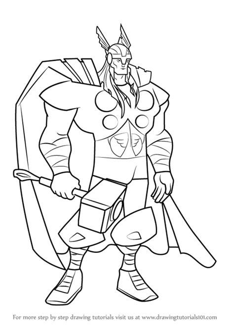 learn   draw thor   avengers earths