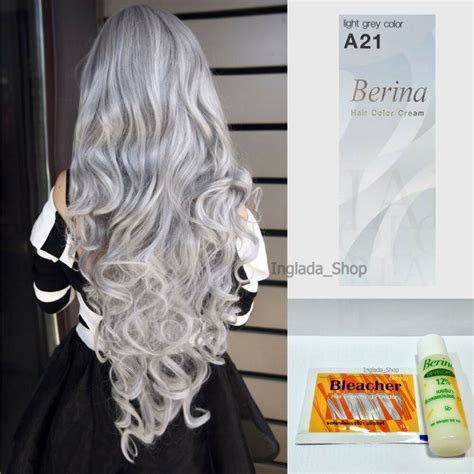 berina   bleacher hair color cream light gray