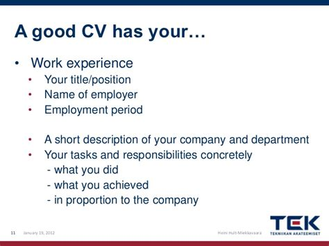 How To Write Your Work Experience In A Resume by How To Write A Cv And Cover Letter