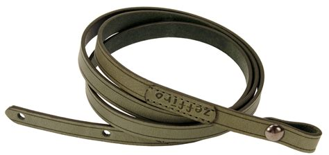 waxy olive green  leather camera neck shoulder strap