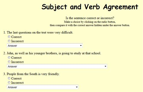 Subject Verb Agreement Worksheets Ivoiregion