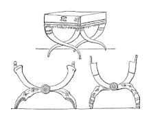 chaise curule curule seat