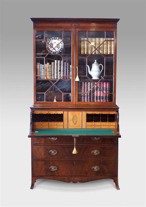antique secretaire bookcase glazed bookcase regency