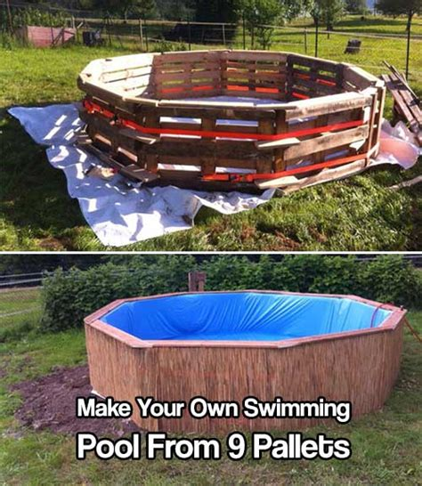 Make Your Own Swimming Pool From 9 Pallets  Shtf Prepping