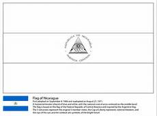 Flag of Nicaragua coloring page Free Printable Coloring