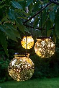 Solar globe lights fairy dust ball gardeners