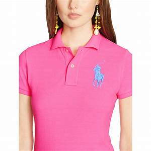 Lyst - Polo Ralph Lauren Skinny-Fit Big Pony Polo Shirt in ...