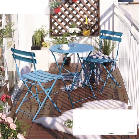balcony table and chair sets three iron table furniture